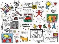 Che mito Keith Haring, spero sia un degno disegno tributo!